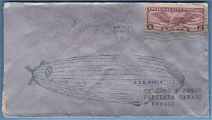 Rare 1932 U.S.S. Akron Coast to Coast Flight Cover