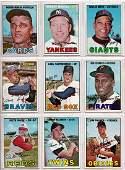 1967 Topps Baseball Near Complete Set, w Keys/Stars,