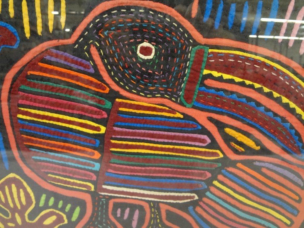Framed Cloth Mola Art from Kuna Tribe of Panama - 2