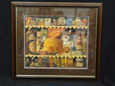 Charles Wysocki Signed and Numbered Lithograph Matted