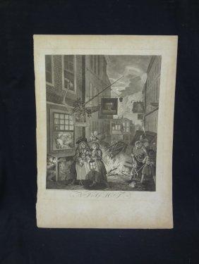 "Original Engraving William Hogarth ""cries Of London"""