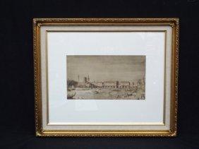 Venice View 1902 Vasari Society Lithograph Antonio