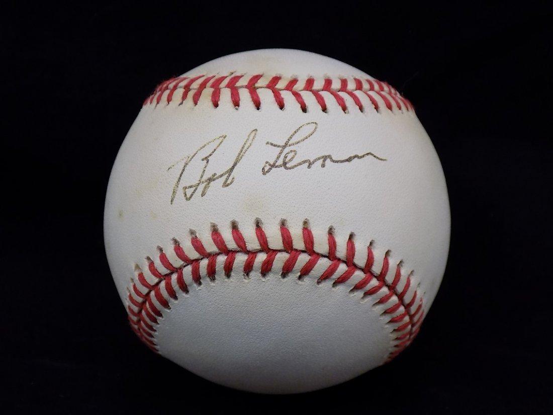 Bob Lemon Autographed Official American League Bobby