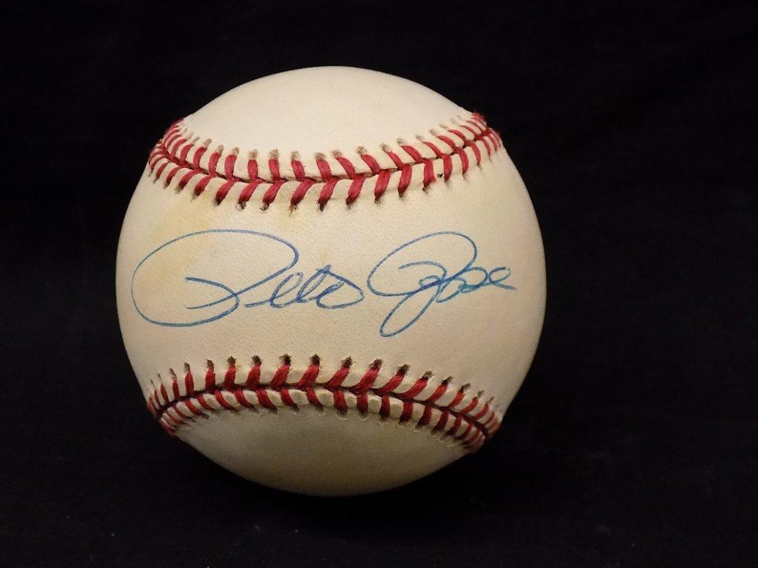 Pete Rose Autographed Official National League Bart