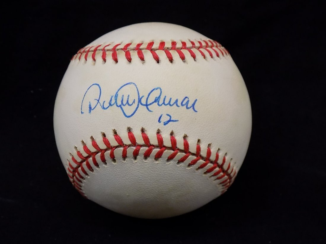 Robbie Alomar #12 Autographed Official American League