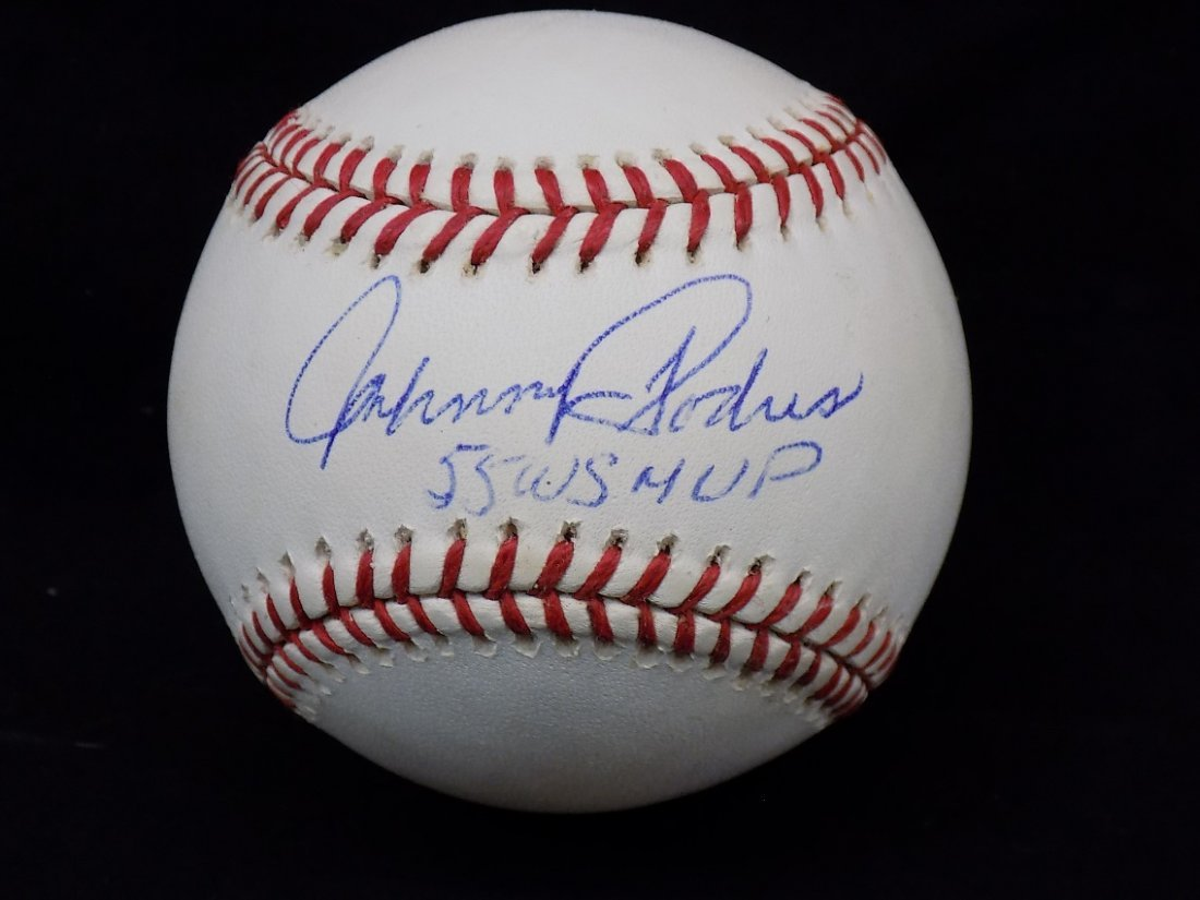 Johnny Podres 55 WS MVP Autographed Official Major