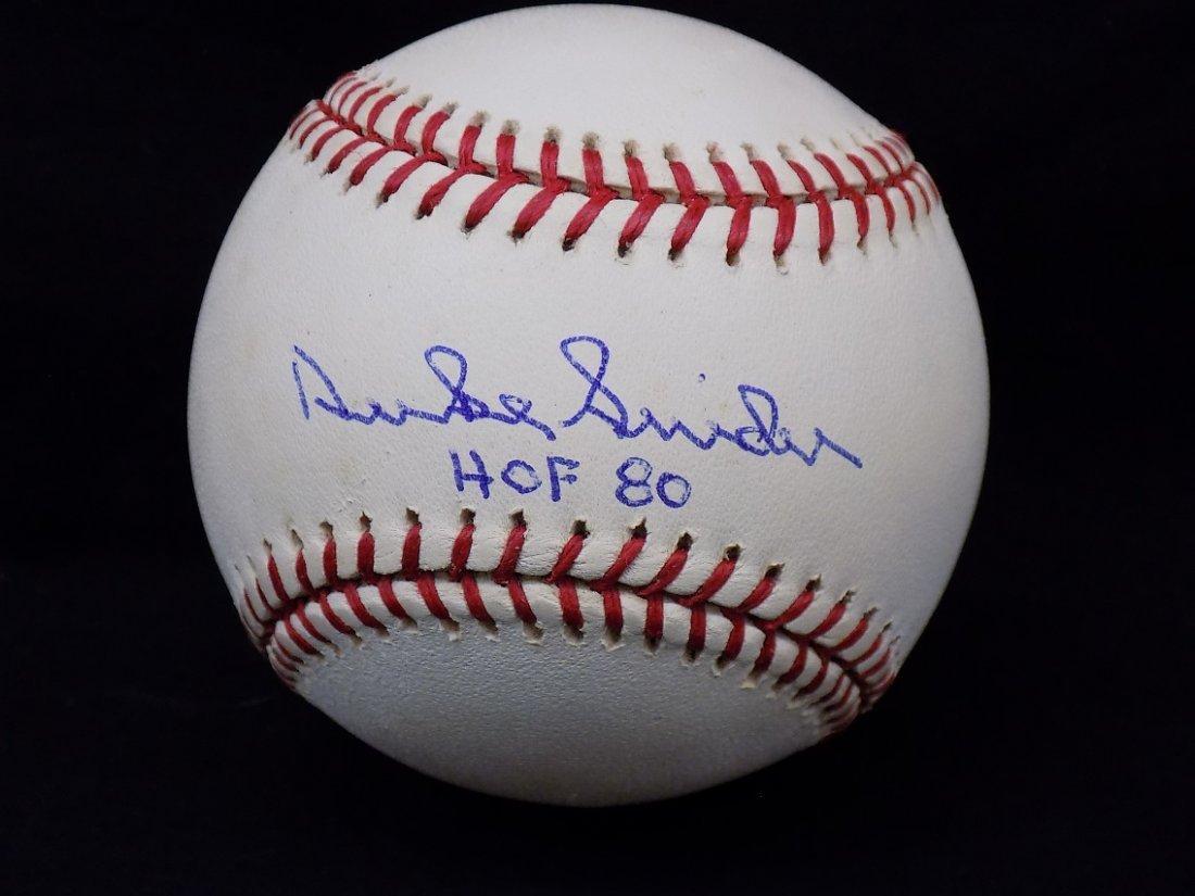 Duke Snider HOF 80 Autographed Official Selig Baseball
