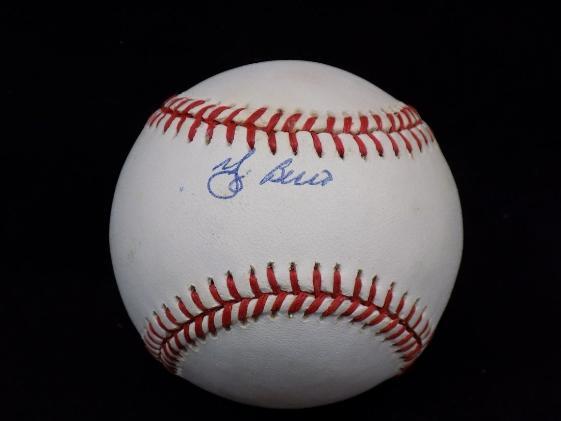 Yogi Berra Autographed Official AL Brown Baseball SGC