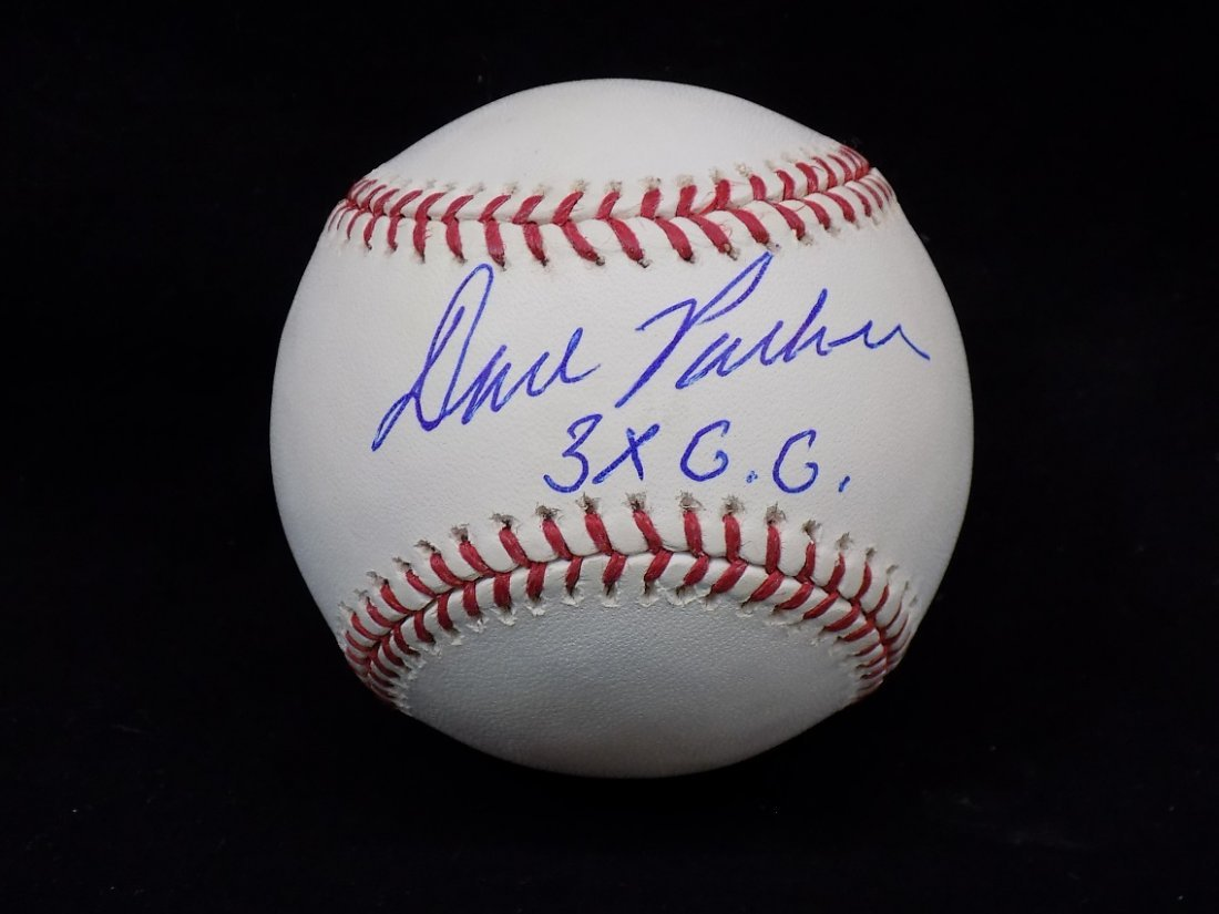 Dave Parker 3x GG Autographed Official ML Selig