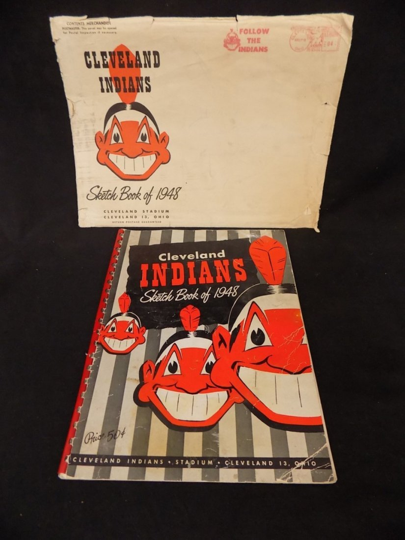 Vintage 1948 Cleveland Indians Sketch Book Yearbook