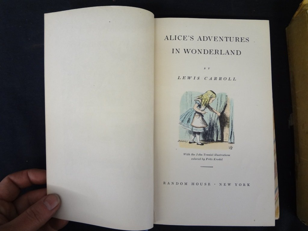 """Lewis Carroll (2) Volume with Slipcase """"Through the"""