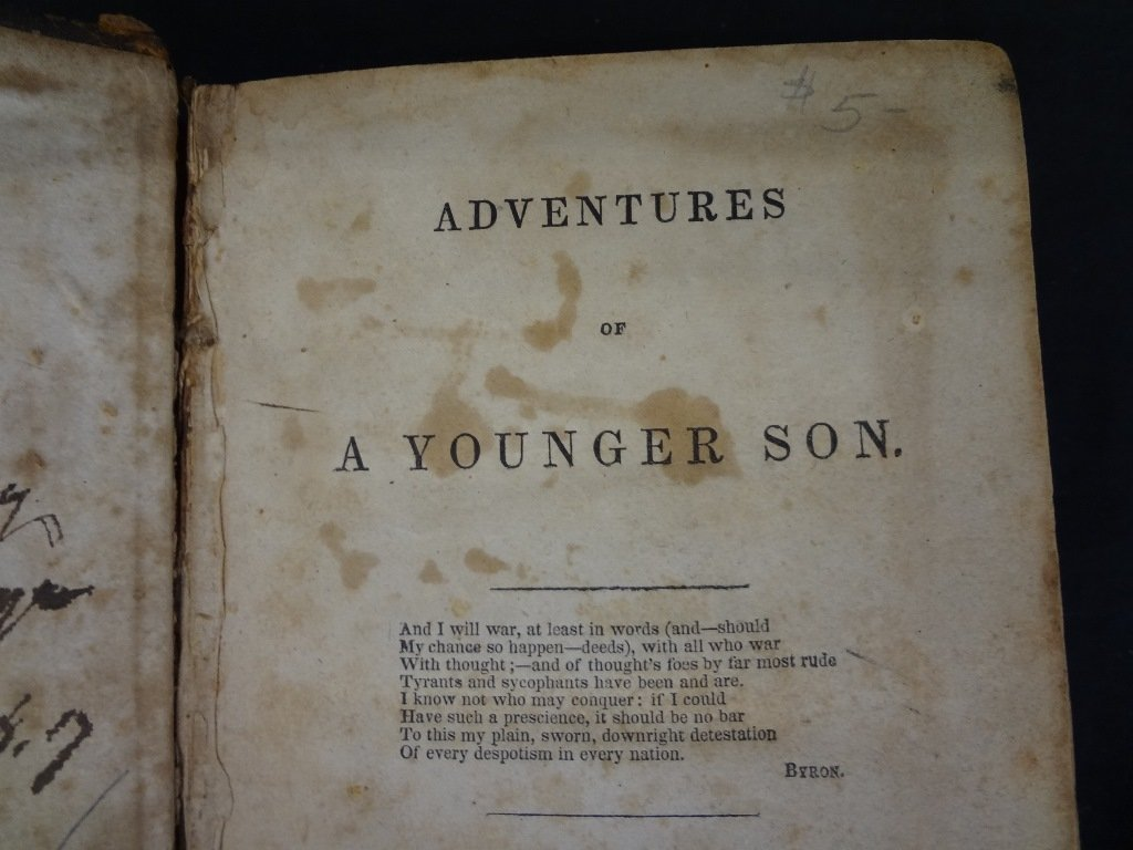 Adventures of a Younger Son, Volumes I, and II Edward