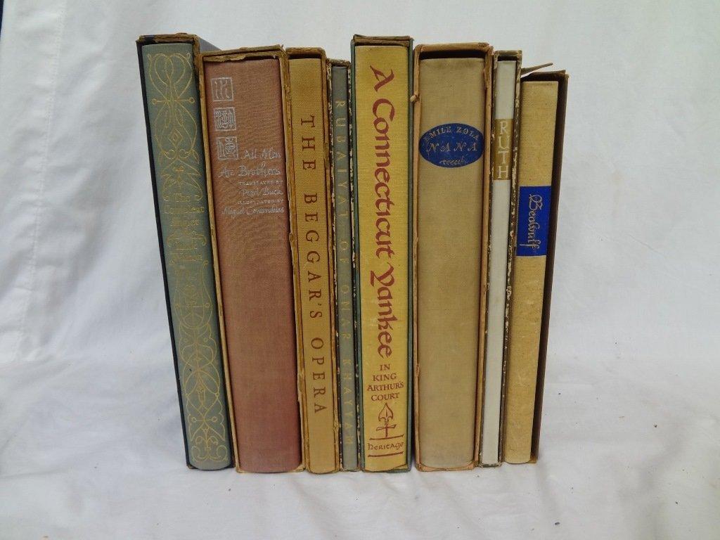 (8) Heritage Press Books: Leonard, Zola, Clemens,