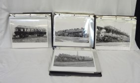 (4) Binders Of Reprint Railroad Photographs: 89 In All