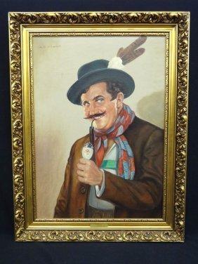 Frank Anselm Original Oil On Canvas Vienna School 1908-