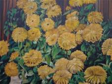 Menn Low Original Oil on Canvas Still life Yellow