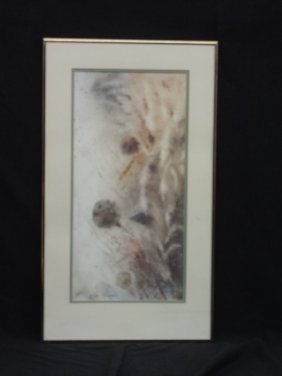Donald Voorhees Signed And Numbered Lithograph Matted