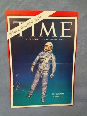 Alan Shepard Autographed Time Magazine Cover 5-12-1961