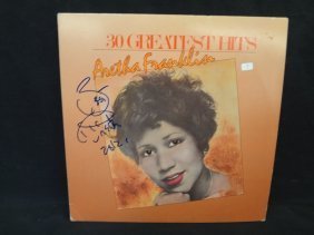 ?aretha Franklin÷ Autographed Album Lp. Loa From Jsa