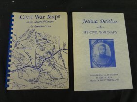 (2) Civil War Books: Joshua Dewees Diary 1991, Civil