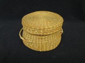 Gullah Community Lidded Native American Basket South