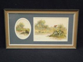 Mary Bertrand Original Watercolor Landscape Scene