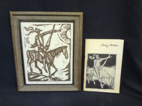 Irving Amen Woodcut Print Signed And Numbered 104/250