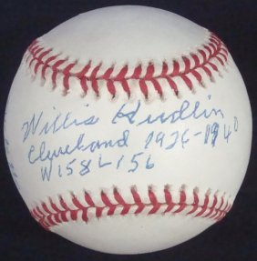 "Willis Hudlin Single Signed ""babe Ruth"" Inscribed Oal"