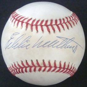 Eddie Mathews Single Signed Onl Baseball