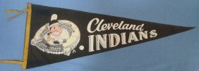 1940's Cleveland Indians Full Size Pennant