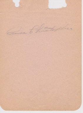 Russ Christopher (1917-1954) Cut Signature, 1948 World