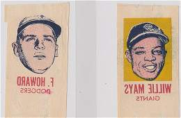 1964 Topps Willie Mays and Frank Howard Photo Tattoos