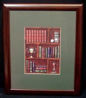 Matted And Framed 19x23 Vintage Golf Print