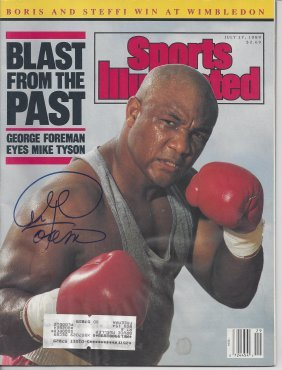George Foreman Autographed 1989 Sports Illustrated