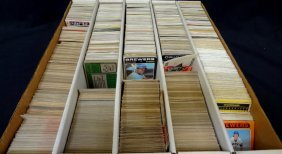 3,000 Count Box Of Vintage Baseball Cards Mostly 1970's