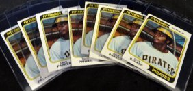 1974 Topps #252 Dave Parker Rookie Cards, Lot Of (8)