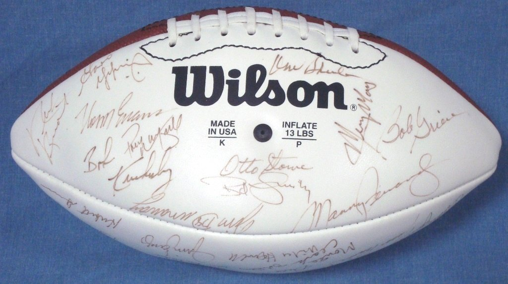 1972 Miami Dolphins Team Signed Undefeated Season