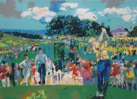 """1994 Leroy Neiman """"good Luck"""" (jack Nicklaus) Signed"""