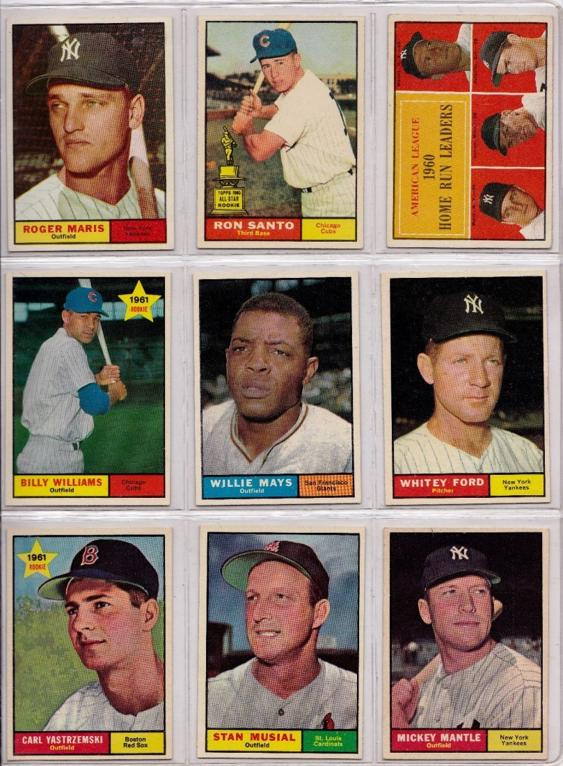 1961 Topps Baseball Card Complete Set, (587) Cards