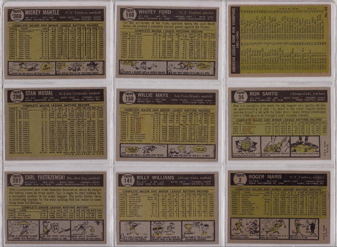 1961 Topps Baseball Card Complete Set, (587) Cards - 2