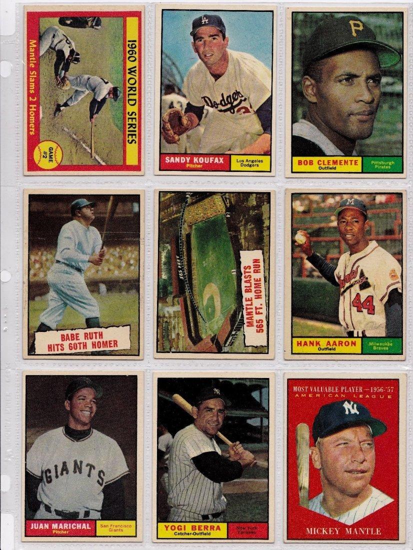 1961 Topps Baseball Card Complete Set, (587) Cards - 3