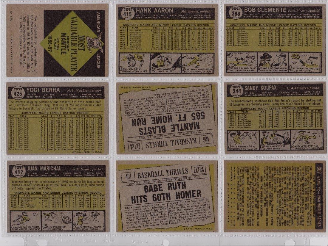 1961 Topps Baseball Card Complete Set, (587) Cards - 4