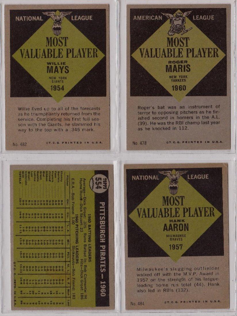 1961 Topps Baseball Card Complete Set, (587) Cards - 6