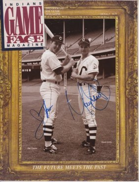 Jim Thome Mark Lewis Dual Signed 1992 Game Face