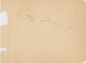 "Paul ""dizzy"" Trout (1915-1972) Cut Signature"