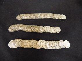 $15 Face Value 3 Rolls Pre-1964 Roosevelt Dimes 90%