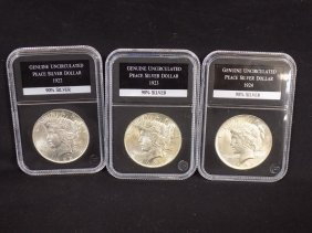 1922 1923 1924 United States Silver Peace Dollars All