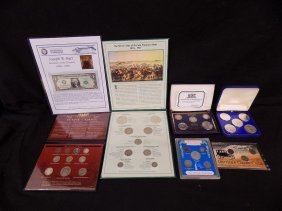 7 Commemorative Coin Sets Silver Morgan, Peace, Walking