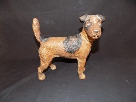 Hubley Cast Iron Fox Terrier Dog Door Stop