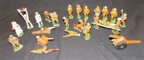 Lot Of (24) Cast Iron Toy Soldiers Barclay?